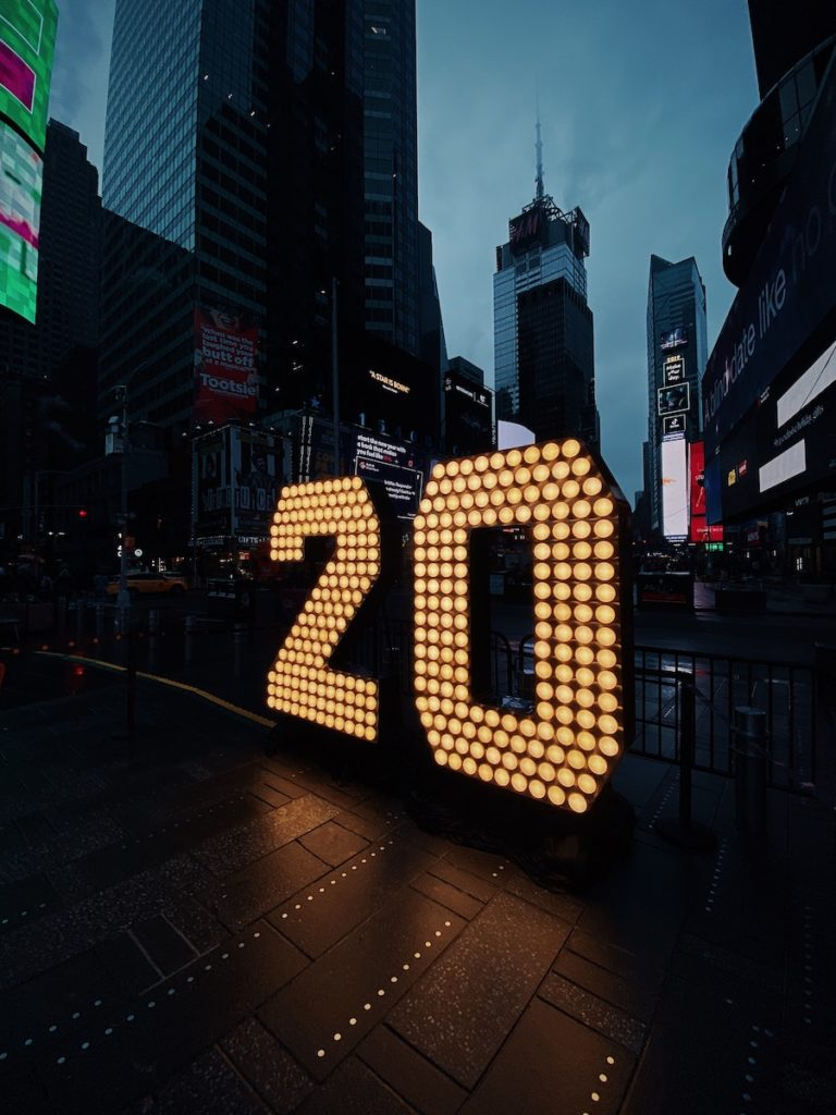 2020 Times Square New Year Economic Calendar New York City United States China Trade War