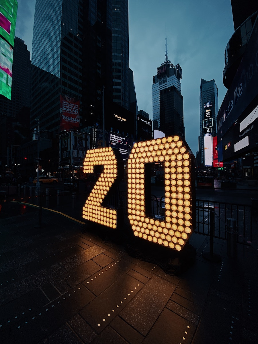 2020 Times Square New Year Economic Calendar New York City United States China Trade War