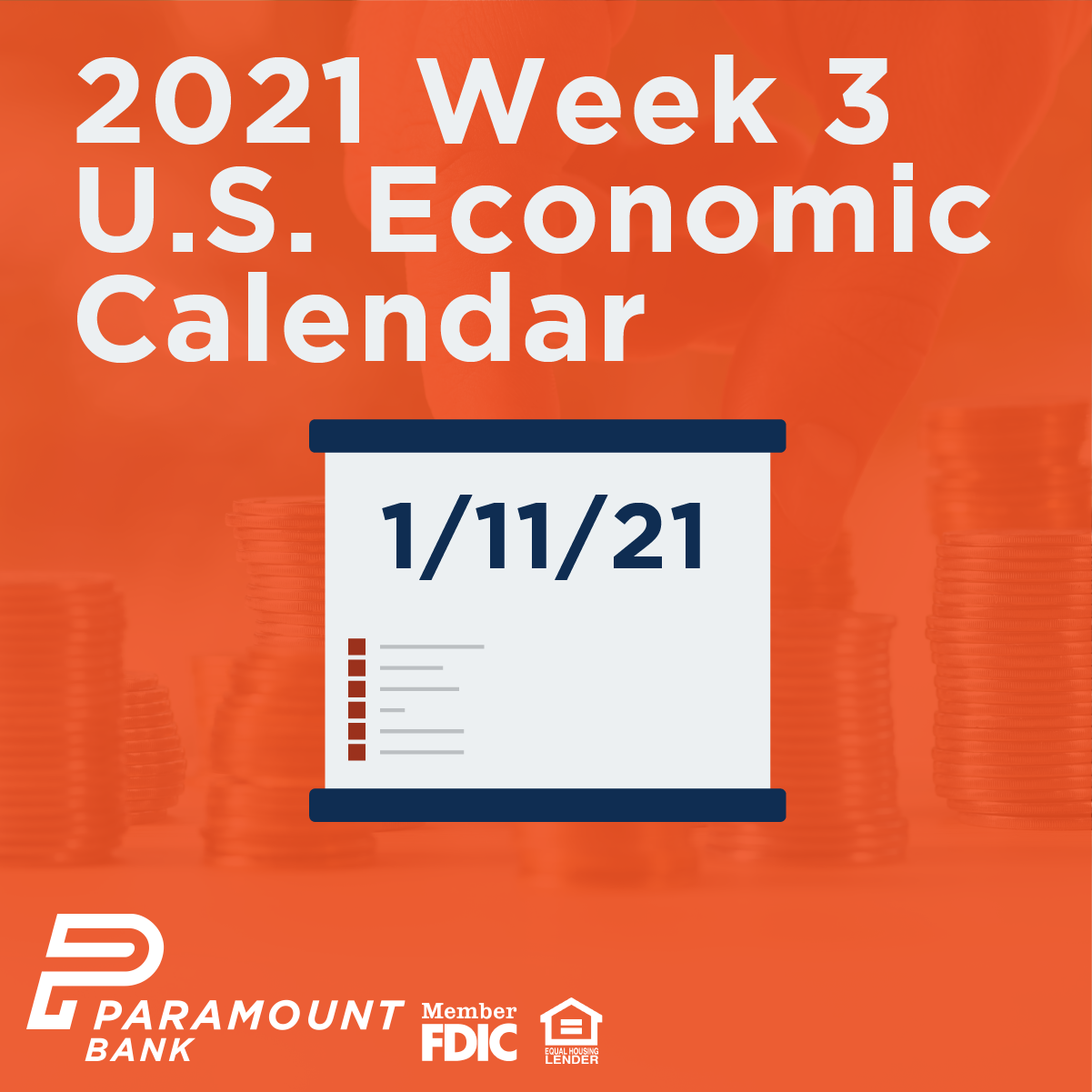 Economic Calendar 2021 2021 Week 3 U.S. Economic Calendar   Paramount Bank 2021 Week 3